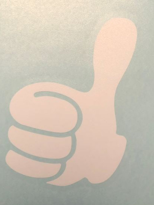 Thumbs Up Decal Sticker (S12)