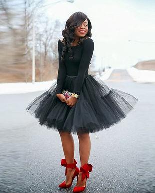 Hippie-Style-Black-Girl-Tulle-Skirt-Vint