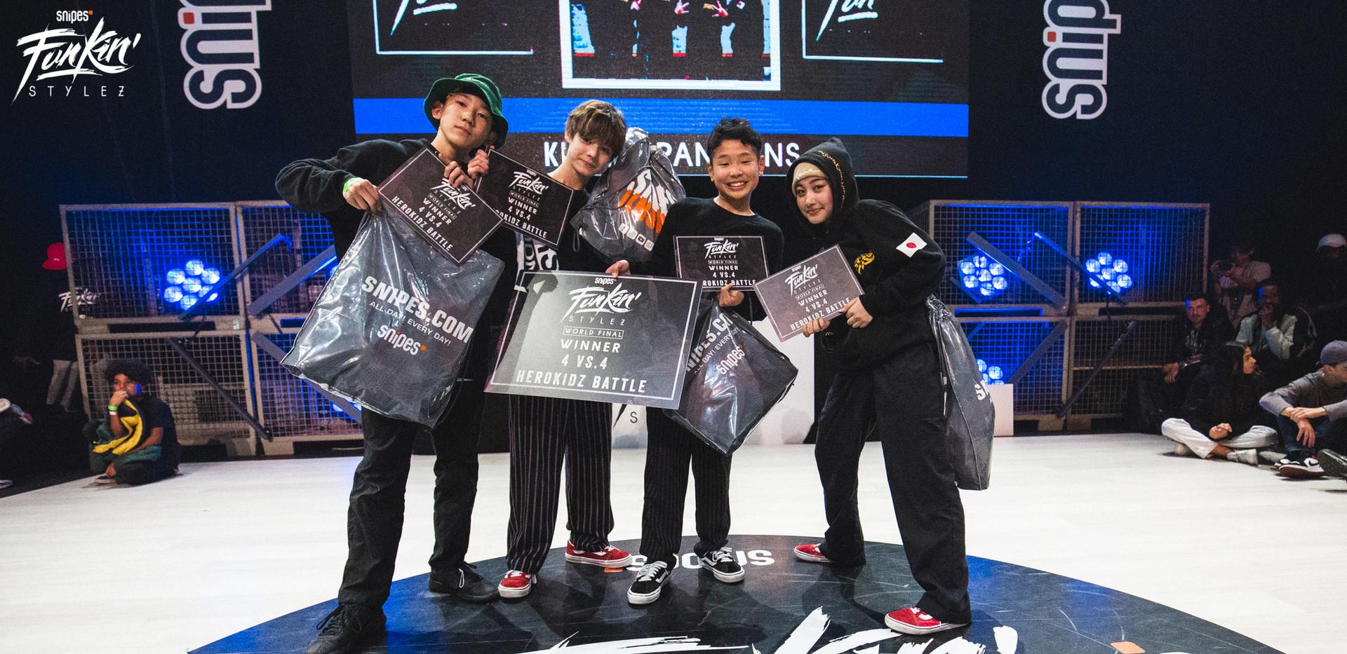 Team Japan Winner Kidz Team Battle