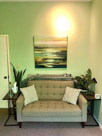 Berkeley Therapist Jesse Whittle-Utter Office Couch