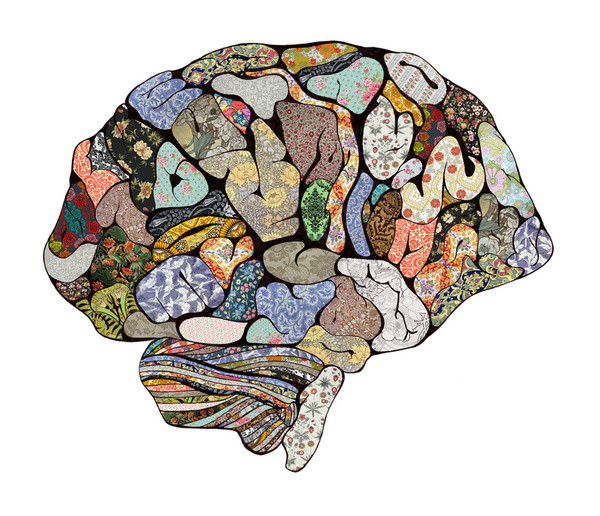 """""""My Brain Looks Different"""" art my Bianca Green - Oakland Therapist EMDR Therapy"""