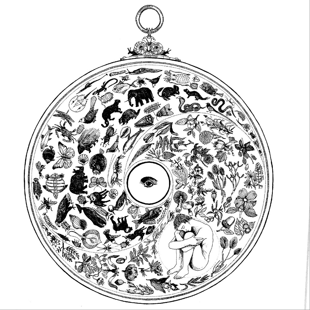 Oakland Therapist San Rafael Therapist - Image of Wheel With Animals and Person
