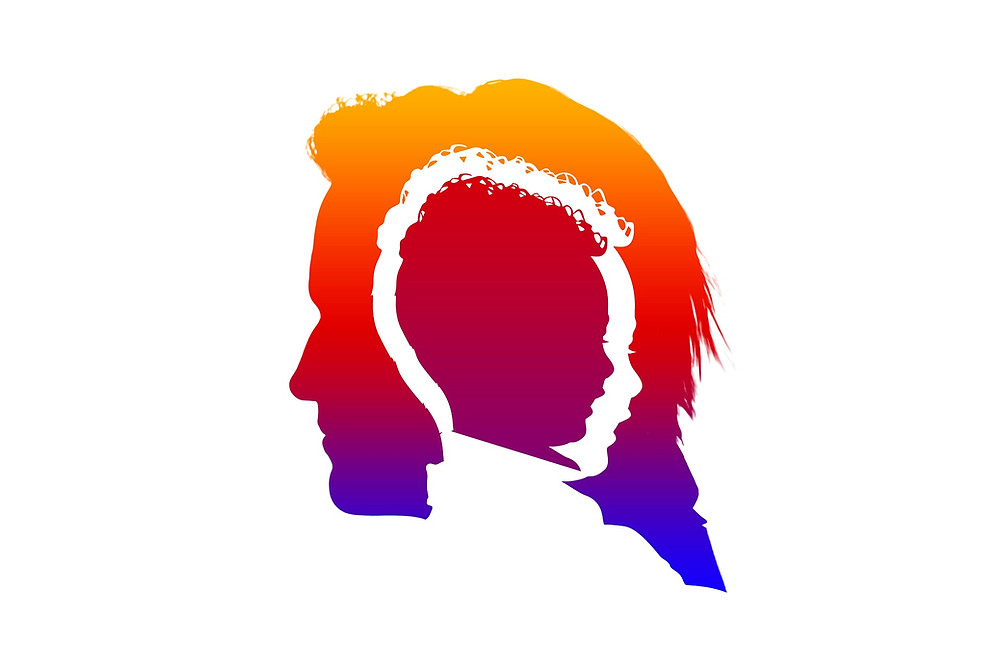 Illustration of child's head silhouette inside adult's head silhouette - Oakland Therapist EMDR Therapist