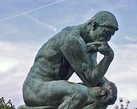 Image of Thinker statue - Oakland Therapist, EMDR, Men's Issues