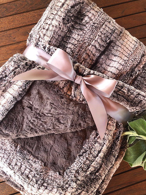 BIRCH/CHARCOAL COUTURE THROW