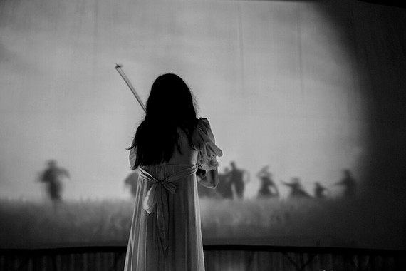 Paz Lenchantin during our live score of Nosferatu at the Blue Starlite Drive In Theater