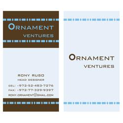 אורנמנט כרטיס ביקור