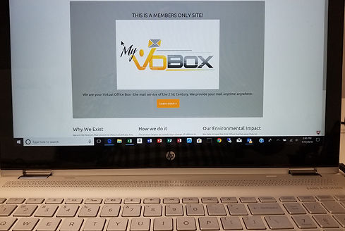 Online My VOBox site for your mail