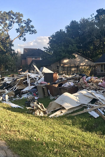 Flooding clean up after Hurricane Harvey