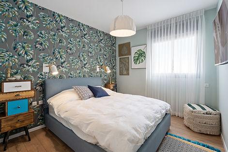 חדר שינה מעוצב בדירת קבלן