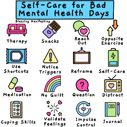 Self-care for bad mental health days