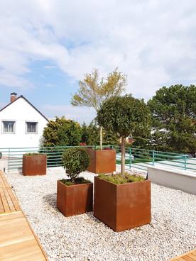 Blumentröge auch Dachterrasse, Garten Le