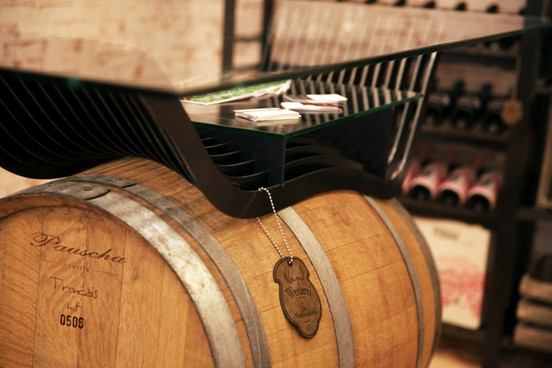 Weinfasstisch Vinesse Detail