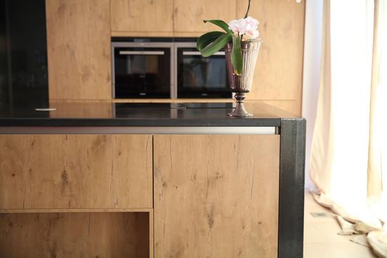 Arbeitsplatte in der Küche aus Cortensta