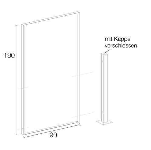 Formrohr für Sichtschutzwand Vista