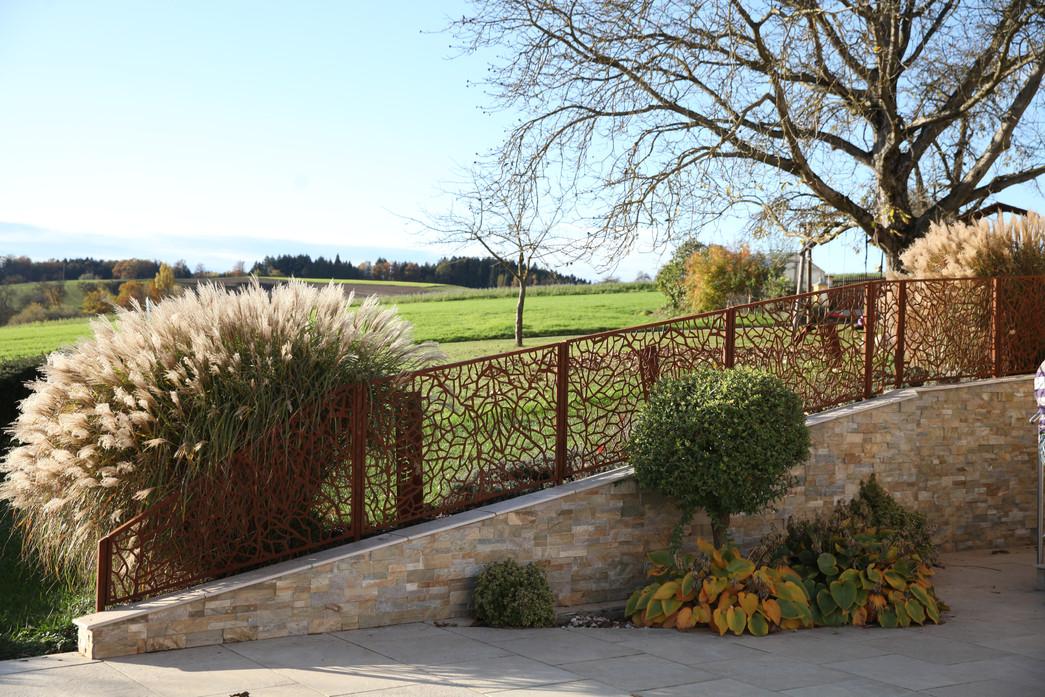 Zaun Blätterstruktur