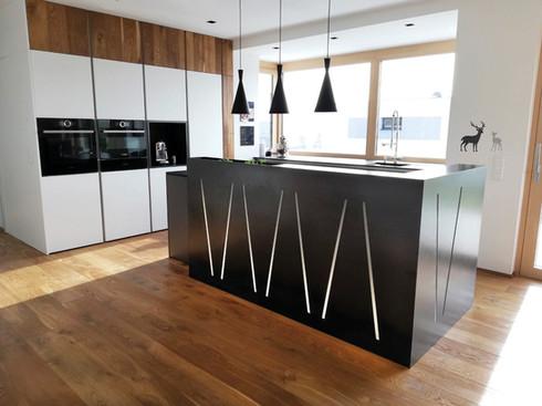Kücheninsel Cortenstahl