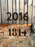 Jahreszahlen- Hausbau