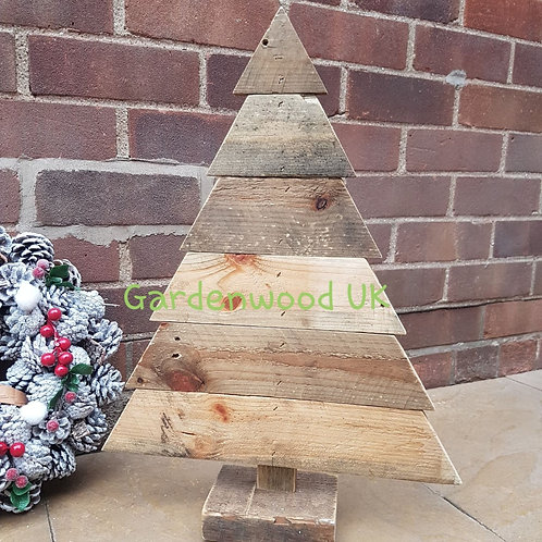 Large Handmade Rustic Wooden Christmas Tree (Reclaimed Timber)