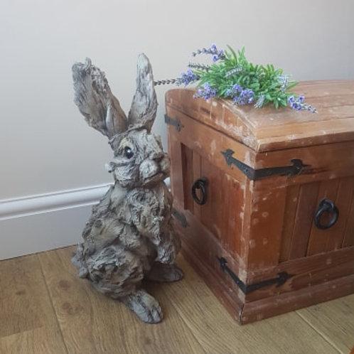 Wood Effect Rabbit Statue