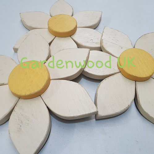 Set of 3 30cm Wooden Flowers