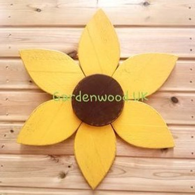 Single Handmade 45cm Wooden Flower