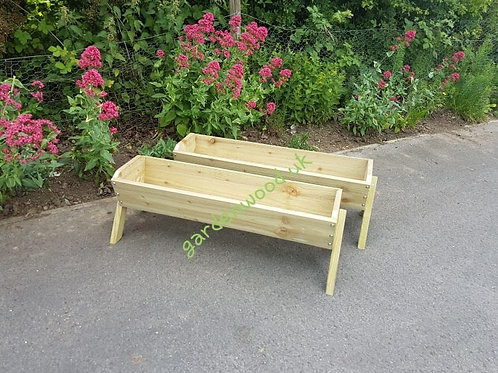 2x 900mm Rustic Troughs with Legs