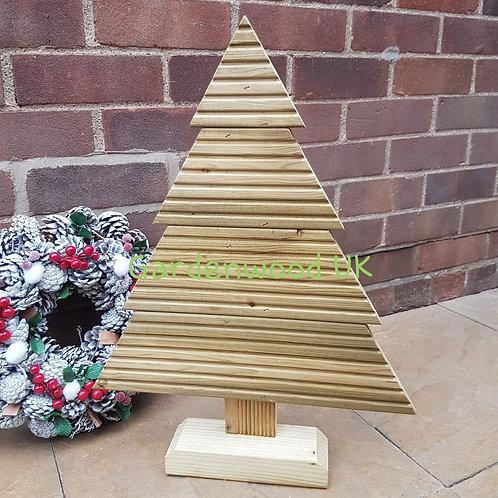 Medium Handmade Rustic Wooden Christmas Tree (Repurposed Decking)