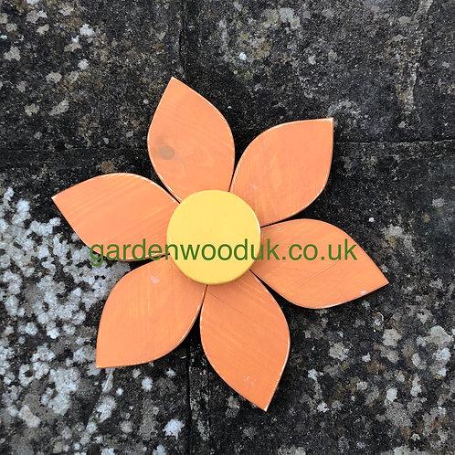 Single 30cm Wooden Flower (6 petal)