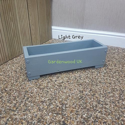 1x Light Grey Wooden Planter Box