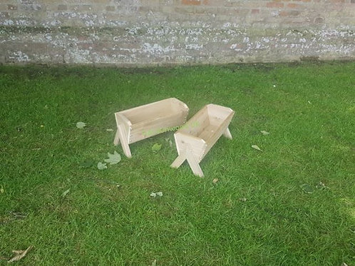 2x 450mm Rustic Troughs with Legs