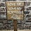 Thumbnail: Love Me, Love My Tortoise Wooden Sign. Different colours available