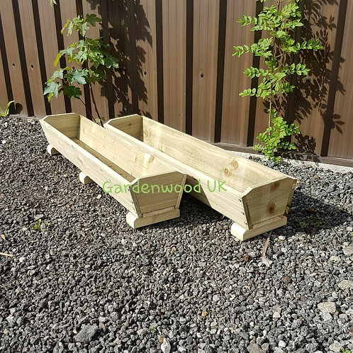 2x 1200mm Rustic Troughs with Feet