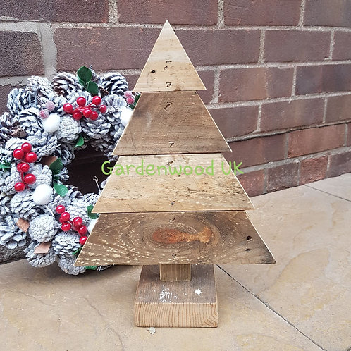 Small Handmade Rustic Wooden Christmas Tree (Reclaimed Timber)