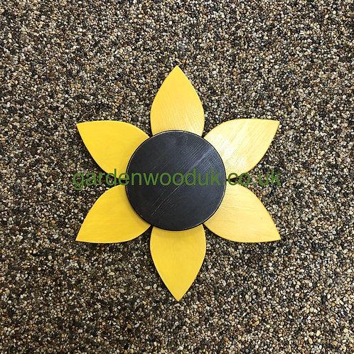 Single 45cm Wooden Sunflower