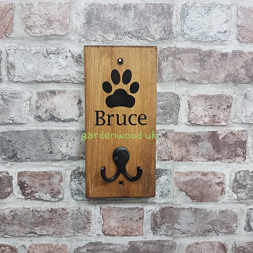 Brown Dog Lead Holder - different colour lettering available