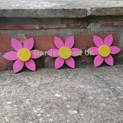 Set of 3 Flowers (15cm)