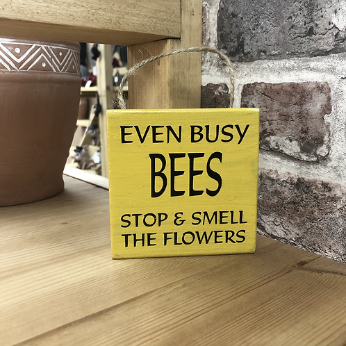 Busy Bees Garden Wooden Sign. Different colours available