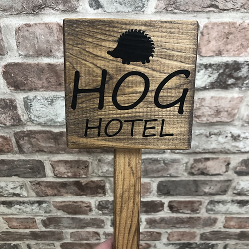 Hog Hotel Wooden Sign. Different colours available.