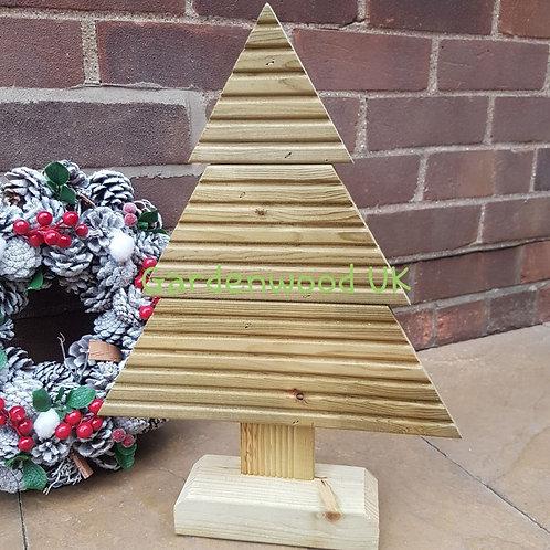 Small Handmade Rustic Wooden Christmas Tree (Repurposed Decking)