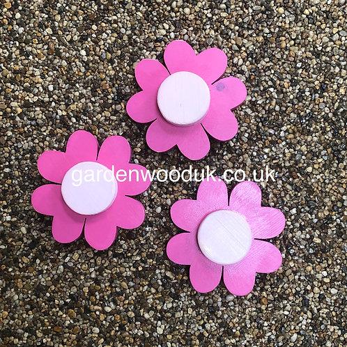 Set of 3 Flowers (15cm - 4 Petals, large centre)
