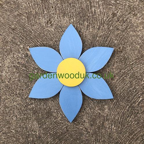 Single 45cm Wooden Flower (6 petal)