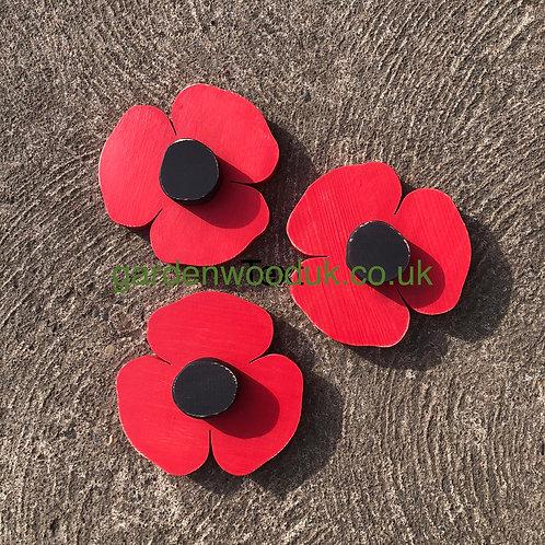 Set of 3 Poppies (15cm)