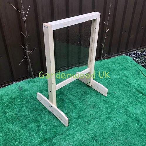 Wooden Garden Art Easel. Perspex Painting Window