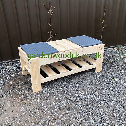1190mm Double Sand and Water Table with centre bench