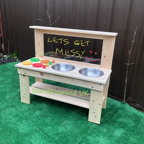Garden Mud Kitchen, Hobs, Double Bowl and Art Easel