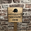 Thumbnail: Hedgehog Highway Wooden Sign. Different colours available.
