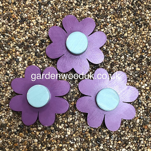 Set of 3 Flowers (15cm - 4 Petals, small centre)