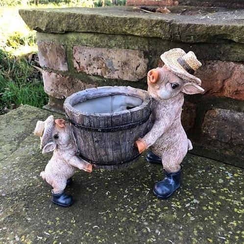 Pig & Piglet Planter