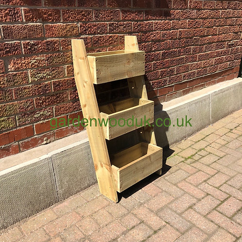 Leaning Rustic 3 Tier 450mm Wide